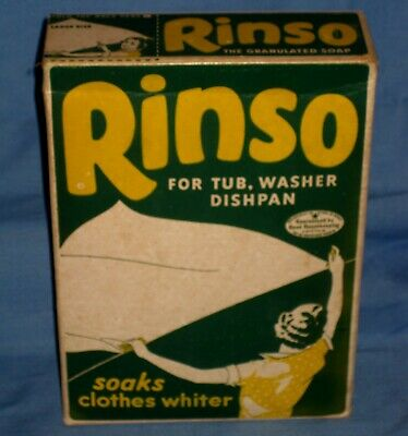 VTG New Old Stock Full 1940s Rinso Soap Box Advertising Americana Laundry!
