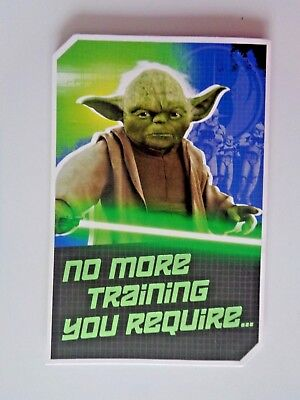STAR WARS gift / birthday / Card.Build your own YODA-with instructions.