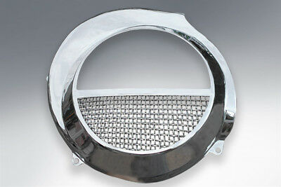 Vespa Flywheel Cowl Cowling Stainless With Mesh Insert Px Elec Start