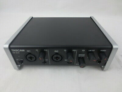 Tascam US-2x2 2-Kanal Mikrofon Vorverstärker USB-Audio-Interface USB 2. W20-1348