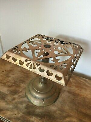 Antique Victorian Ornate Detailed Brass Kettle Stand Trivet Planter Pot Stand