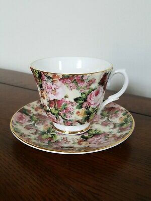 Royale Collection Chintz Collection Staffordshire Tea Cup And Saucer