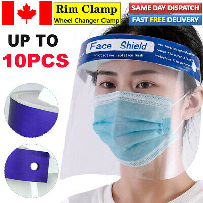 Lot Full Face Shield Protect Eyes Clear Film Elastic Band with Soft Sponge CA