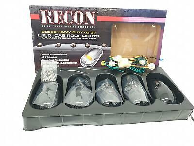 Recon 264146BK Smoked Cab Roof Lights For 2003-2017 Dodge Ram Dachlichter