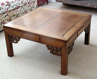 Antique Republic Period Chinese Rosewood Coffee Table Formerly a Mahjong Table