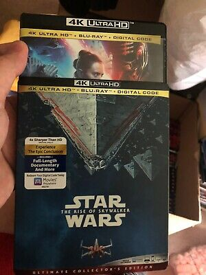 Star Wars The Rise of Skywalker 4K + Blu-ray (No Digital) with Slip Cover