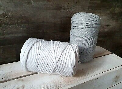 5mm Twisted Cotton Cord, Rope, Macrame, DIY Craft Home