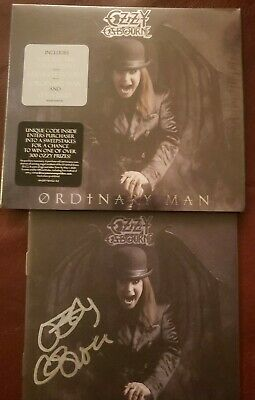 OZZY OSBOURNE AUTOGRAPHED Edition CD ORDINARY MAN DELUXE LIMITED NEW