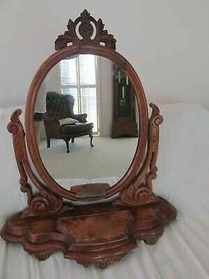 Rare Large Antique Huon Pine Toilet Mirror or Chest Mirror
