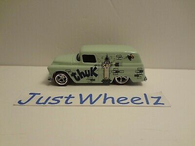 2017 MAD Magazine /'55 CHEVY PANEL☆mint green;real riders☆Pop Culture Hot Wheels