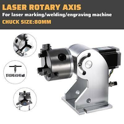 Laser Rotaion AxisF/ Fiber Laser Marking  Engraving machine Cylinder Rotary 80mm