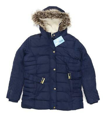 Young Dimension Girls Blue Midweight Coat Age 12-13