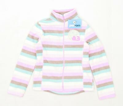 Ladybird Girls Striped Multi-Coloured Fleece Age 7-8