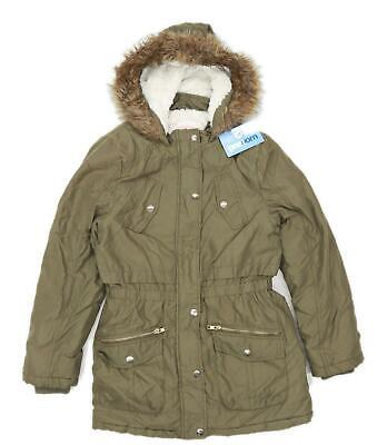 George Girls Green Midweight Coat Age 11-12