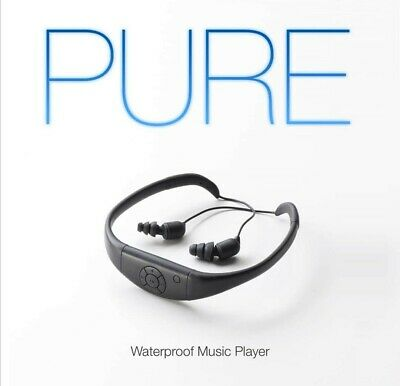 PURE Waterproof Music Player - MP3 Headphones Earbuds - White RRP $189 NEW