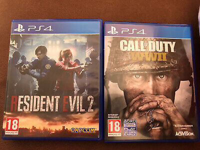 Call of Duty WW2 And Resident Evil 2 PS4
