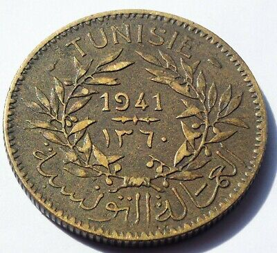 1941 French France Tunisia 50 Centimes coin