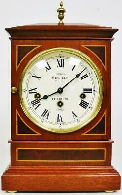 Beautiful Vintage Sewills Mahogany Triple Chime Musical Kieninger Bracket Clock