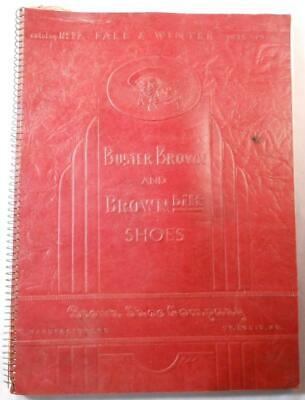 Vintage Brown Shoe Co Catalog 77 1935-36 Buster Brown Athletic Work Dress Shoes