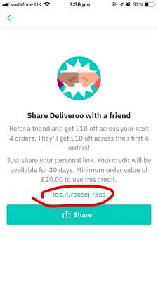 Deliveroo discount £10 Off Next Four Orders | No purchase required