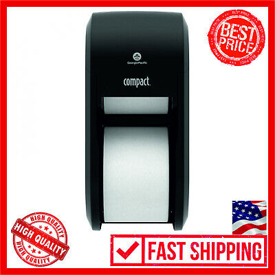 Compact 2-Roll Vertical Coreless High-Capacity Toilet Paper Dispenser GP PRO