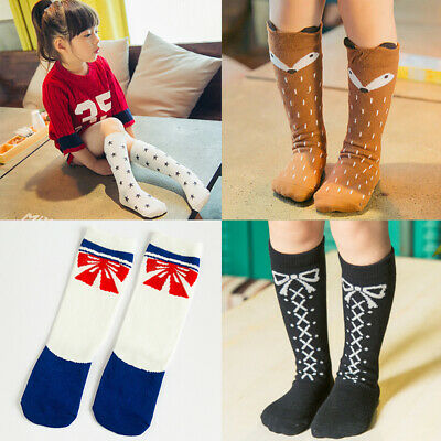 Girls Kid High Long Socks Over Knee Cartoon Animals Thigh Stockings Cute Lot
