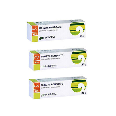 Benzyl Benzoate ointment, 20% 25gr, Scabies, Antiparasitic Lice Treatment