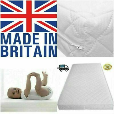 Baby Cot Bed Junior Toddler Mattress Quilted Removable Cover 140 x 70 x 13 cm