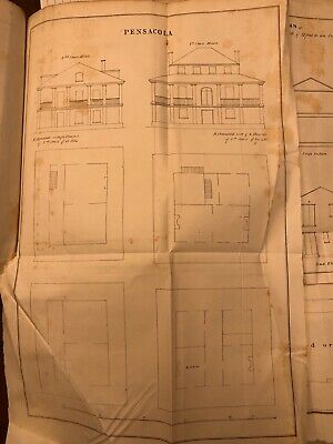 1848 Drawing: US Navy Pensacola, FL 6 1st Class & 6 2nd Class Houses With Costs