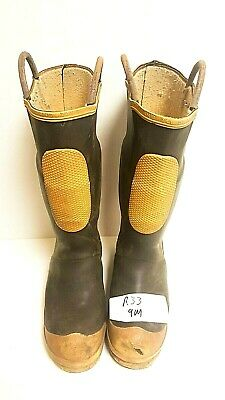 Ranger FireWalker Firefighter Turnout Rubber Boots Steel Toe Size 9 Medium R33