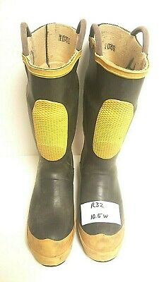 Ranger FireWalker Firefighter Turnout Rubber Boots Steel Toe Size 10.5 Wide R32