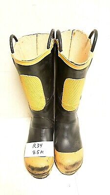 Ranger FireWalker Firefighter Turnout Rubber Boots Steel Toe Size 8.5 Medium R34