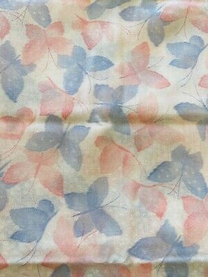 Vintage Pink And Blue Butterfly Fabric