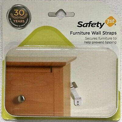 Safety 1st Anti-Tip Furniture Wall Straps 2-pc 052181110146