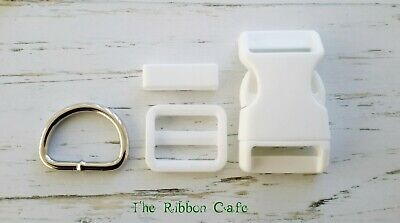 20mm, 25mm white buckle sets