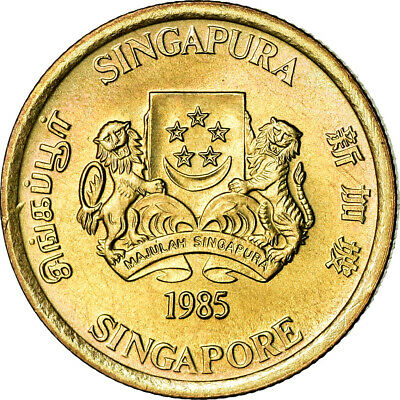 [#851449] Coin, Singapore, 5 Cents, 1985, British Royal Mint, MS(63)