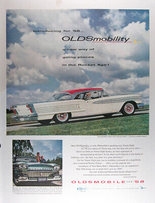 Factory Photo Ref. #60836 Picture 1958 Oldsmobile 98 Convertible Coupe