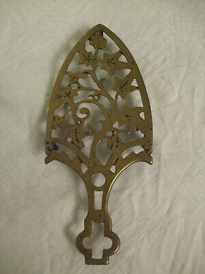 Antique Brass Trivet Stand for Flat Iron Ivy Pattern