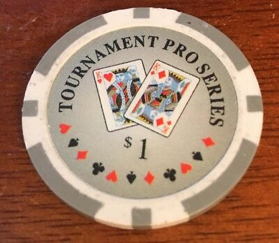 3 pc 3 colors Tournament Pro Series poker chips samples set #54