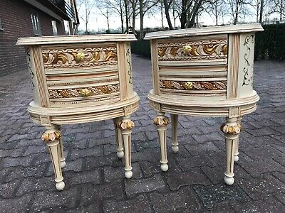 Antique Venetian Night stands in pastel colors -a pair. Worldwide free shipping