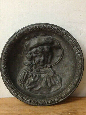 ANTIQUE PEWTER DISH approx; 15 cm (6 inches) Diameter