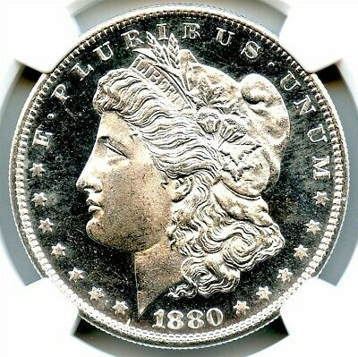 1880-S Morgan Silver Dollar, NGC MS-65 DMPL, Bright White MIrrors, Nice Coin!