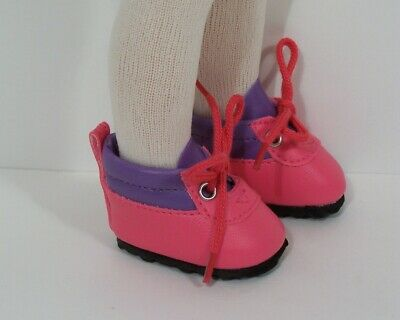"""2-Tone PINK LAVENDER Hiking Boots Doll Shoes For 13"""" Paola Reina Doll (Debs)"""