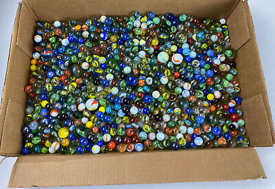 LOT of 40 Antique Vintage Marbles - Cats Eye - Transparent Swirls - Speckled