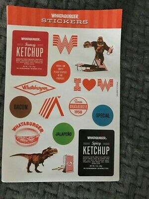 Whataburger Stickers Promotional Sticker Sheet NEW