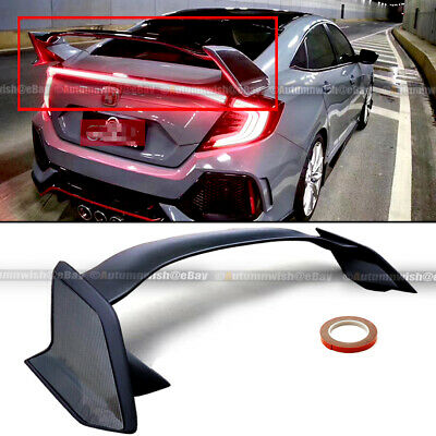 Fits 16-20 Honda Civic 4DR Sedan Type R Carbon Painted Side Trunk Wing Spoiler