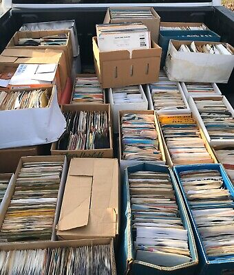 "Lot of 100 Random 45 rpm Vintage 7"" Vinyl Records Jukebox Rock Pop Country Soul"