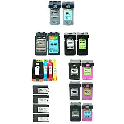 Compatible with HP / Canon Black / Colour / Magenta / Cyan/ Yellow Ink Cartridge