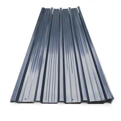 12 Sheets Cold Room Corrugated Metal Roofing Sheet Wall Panels Garage Shed Roof