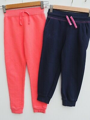 Fab Bundle of 2 GEORGE Girl's Jogger Pants / Crop Joggers age 5-6 years